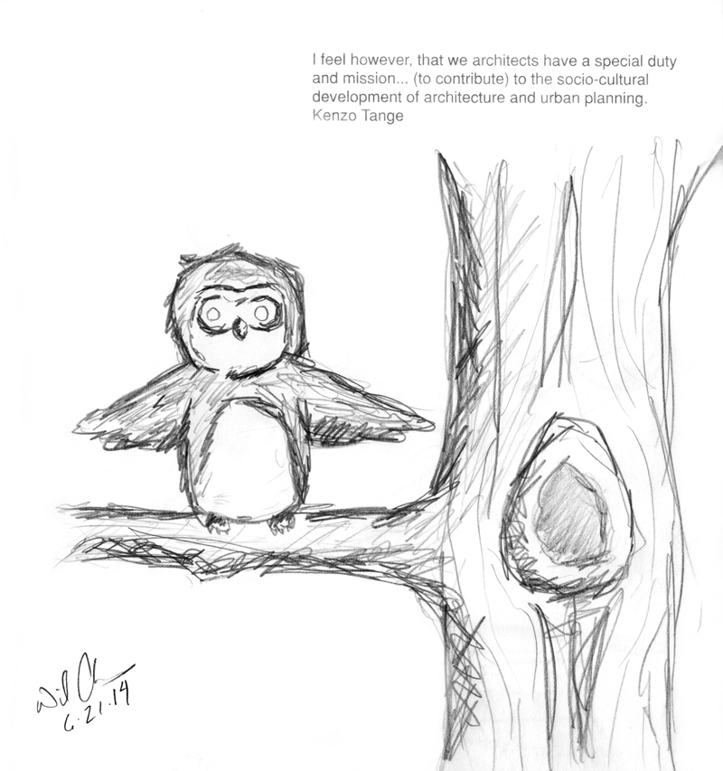 Owl and the Tree